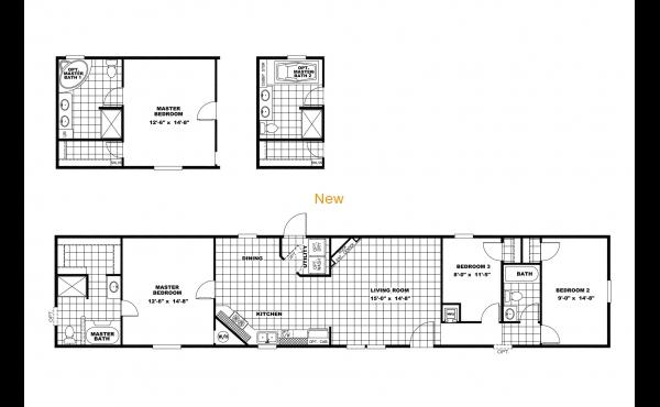 T V house 16x80